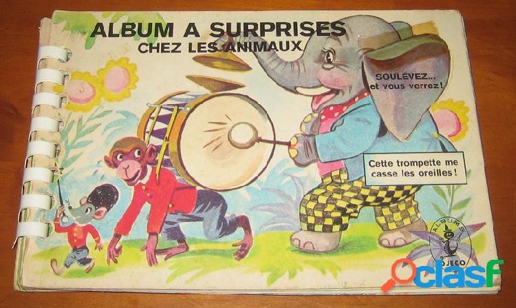 Album à surprise chez les animaux… soulevez, et vous verrez !