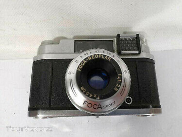 ancien appareil photo foca sport avec Étui - vintage camera