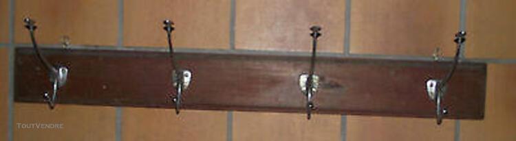 Ancien porte manteau art nouveau rampe bistrot école patere