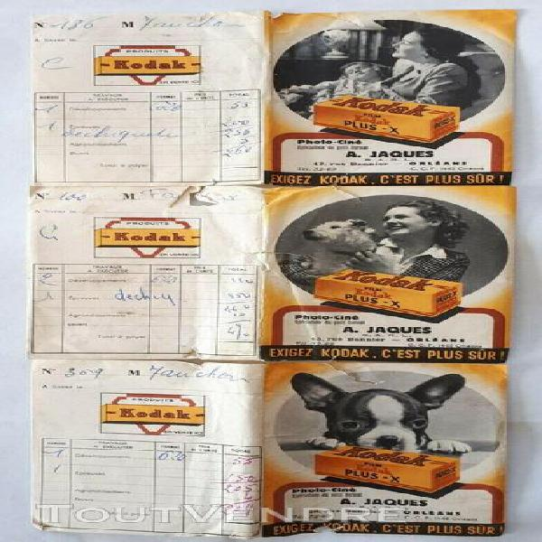 anciennes pochettes photo kodak