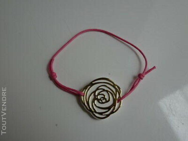 Bracelet céramique rose blanche et or de dior neuf