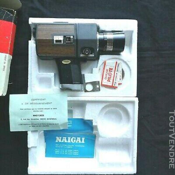 camera naigai super 8 vidéo avec sa boîte d'origine notice