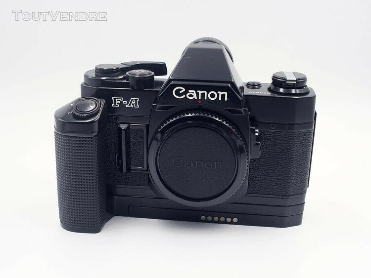 canon f-a body film camera / boitier + motor drive mz (fd mo