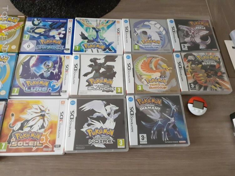 Gros lot jeux pokemon ds 3ds n64 + goodies + guide steelboo