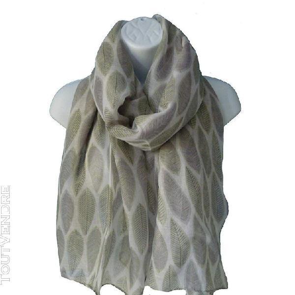 Intrigue - foulard imprimé - femme (gris) - utjw346