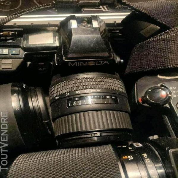 lot d appareils photos minolta et objectifs