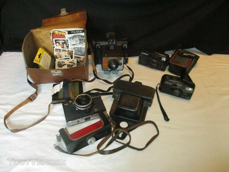 lot de 4 appareils photographiques argentiques, années 1970