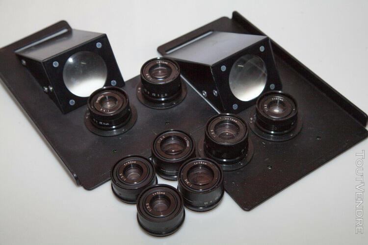 lot de 6 objectifs photo pour episcope ou comparateur optiqu