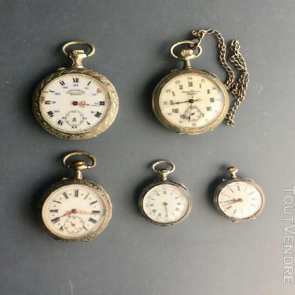 Lot de montres à gousset anciennes / antique pocket matchs