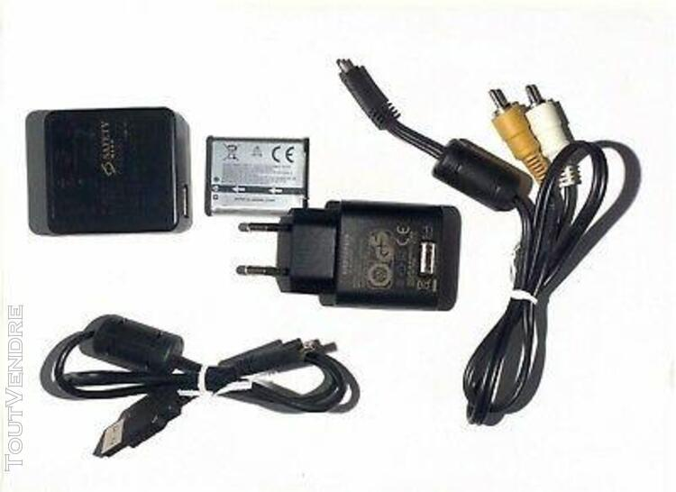 lot for olympus d-760 cable audio video + batterie + chargeu