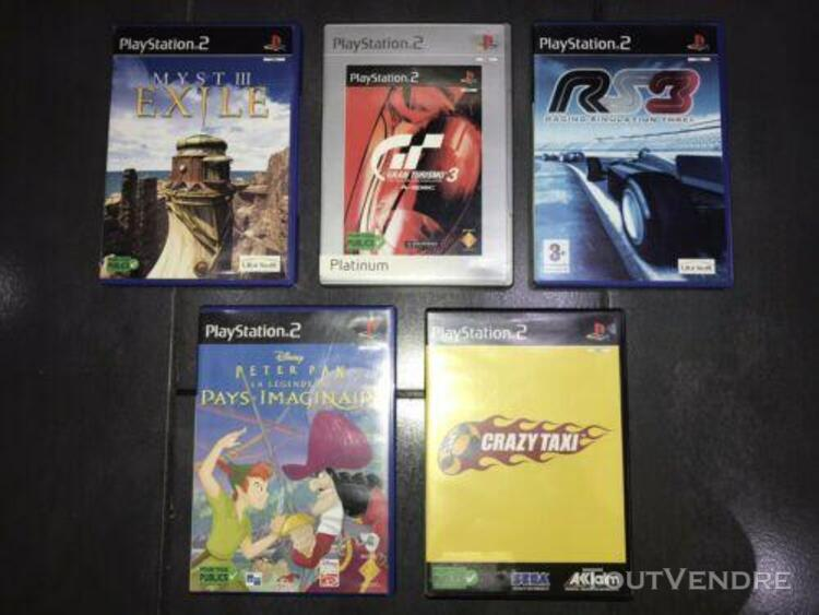Lot jeux ps2 crazy taxi gran turismo 3 peter pan rs3 myst 3
