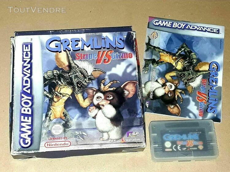 Nintendo game boy advance gremlins stripe vs gizmo jeu compl