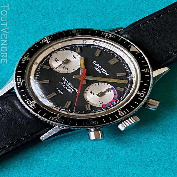 Nivada croton chronomaster watch vintage chronograph valjoux