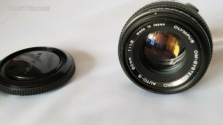 objectif olympus om-system zuiko auto-s 50mm f/1.8 lens