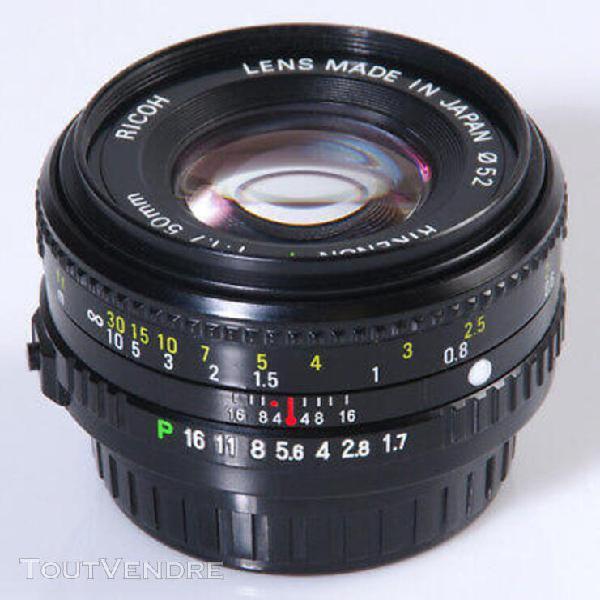 objectif pentax k ricoh rikenon p 1,7/50mm pentax k rikenon
