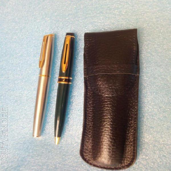 Set ecriture waterman / stylo plume + stylo bille + etui wat