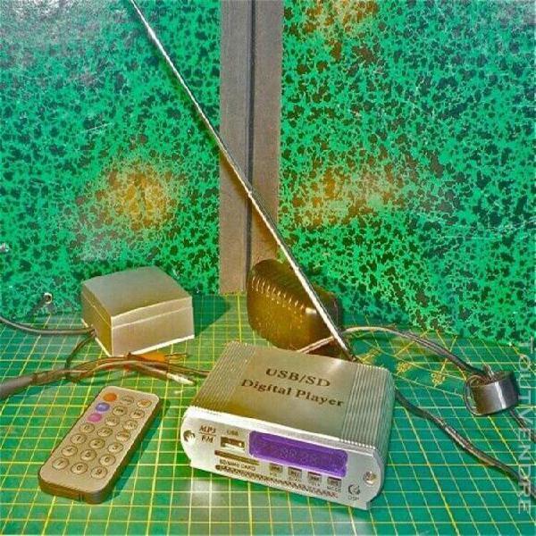 adaptateur fm usb sd mp3 pour anciennes radios à lampes