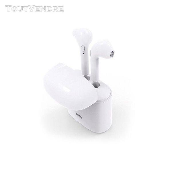 casques bluetooth avec microphone 600 mah blanc