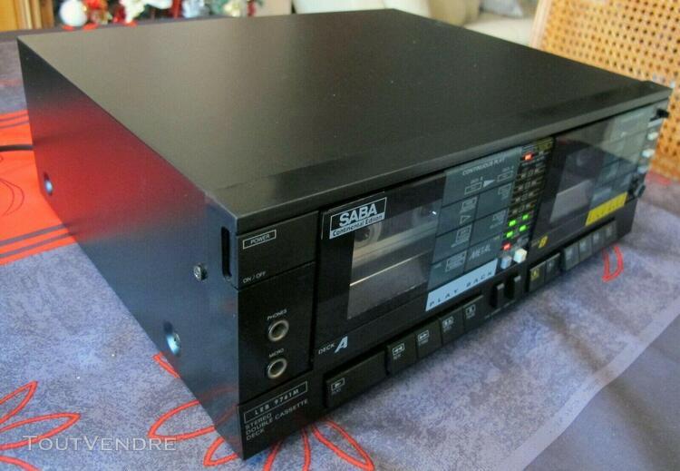 double cassette leb 9761 m - saba continental edison