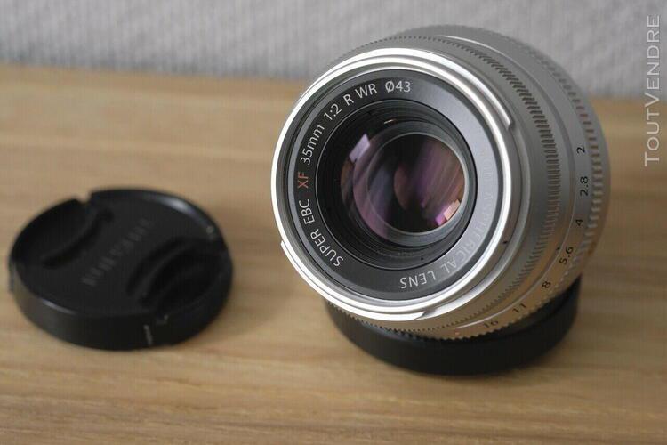 Objectif fujifilm fuji 35mm f2 silver très bon état
