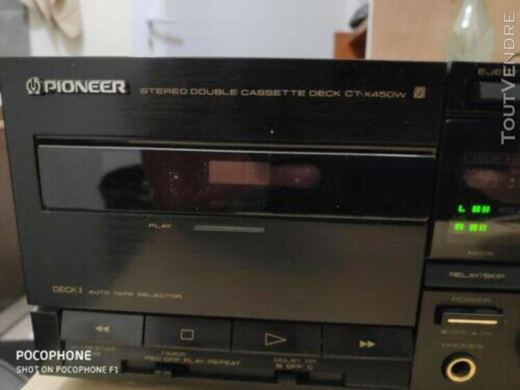 platine double cassette pioneer ct-x 450 w