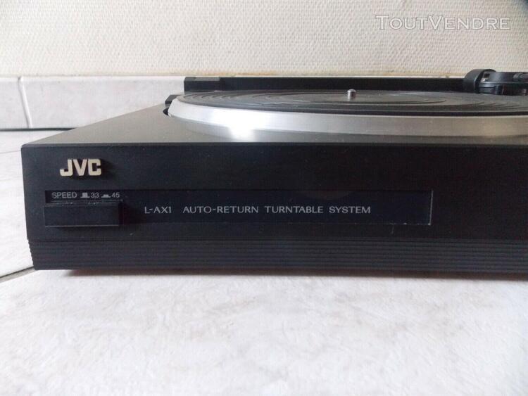 platine vinyl tourne disque jvc l-ax1 auto-return turntable