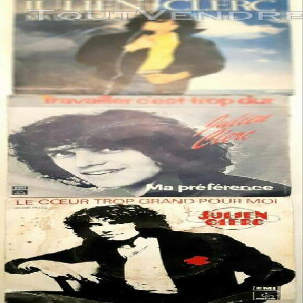 3 disques vinyl 45 tours authentiques - julien clerc, be