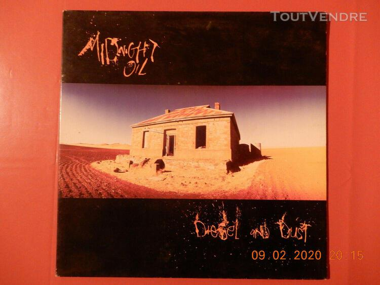 ancien disque 33 tours midnight oil diesel and dust 1987