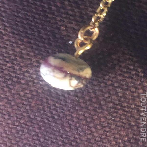 Boucles oreille perle verre de murano chaine et attache lait