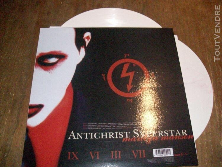 marilyn manson rare 2 lp couleurs antichrist superstar