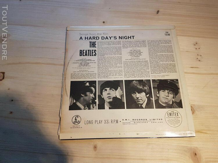 the beatles - a hard days night vinyl lp uk 1st press parlop