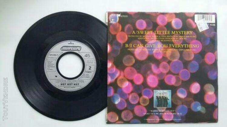 "7"" 45 tours sp, wet wet wet - sweet little mystery - 1988"