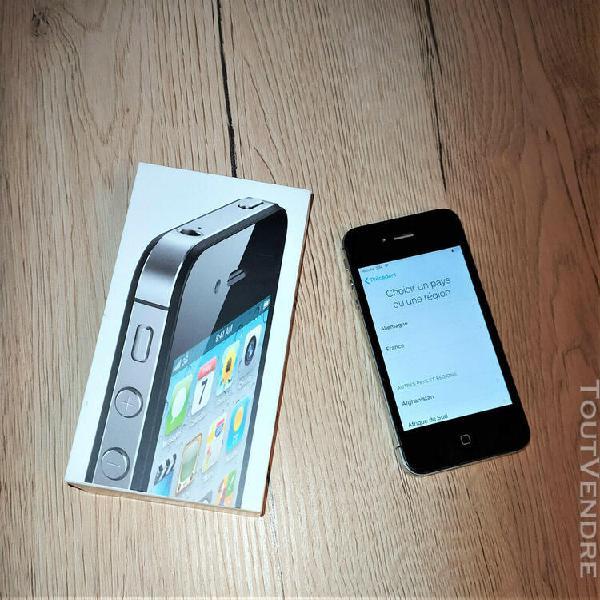 apple iphone 4s 16go noir désimlocké pour pièce (bloqué