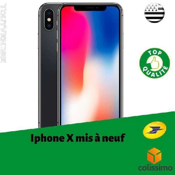 apple iphone x 256 gris noir reconditionné neuf très bon