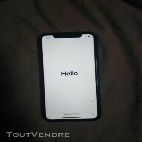 apple iphone xr - 64 go - noir bloquer icloud pour pièces
