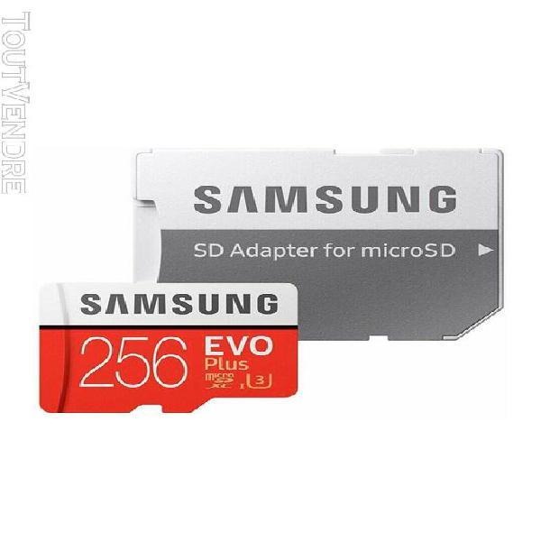 cartes micro sd samsung evo plus 256 go classe 10 adaptateur