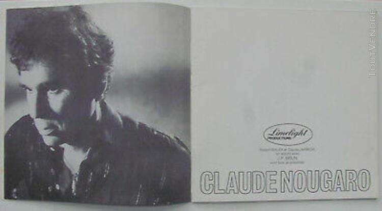 Claude nougaro programme palais des sports de paris 1983 / 2