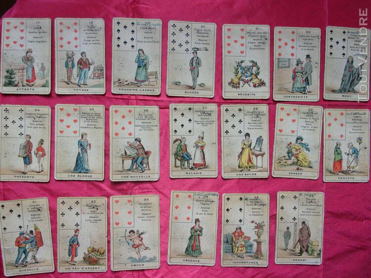Collection jeux anciens cartes à jouer cartomancie