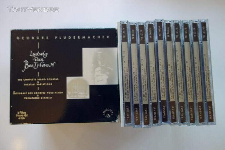 L van beethoven:- intégrale sonates - g. pludermacher -