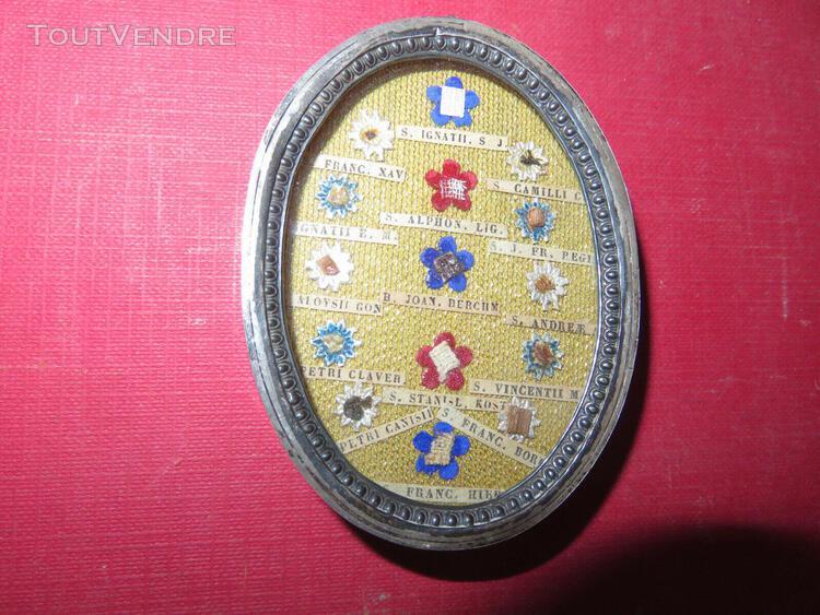 médaillon reliquaire, époque 19ème.