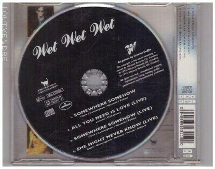"""Wet wet wet """" somewhere somehow """" - cd compact disc - très"""