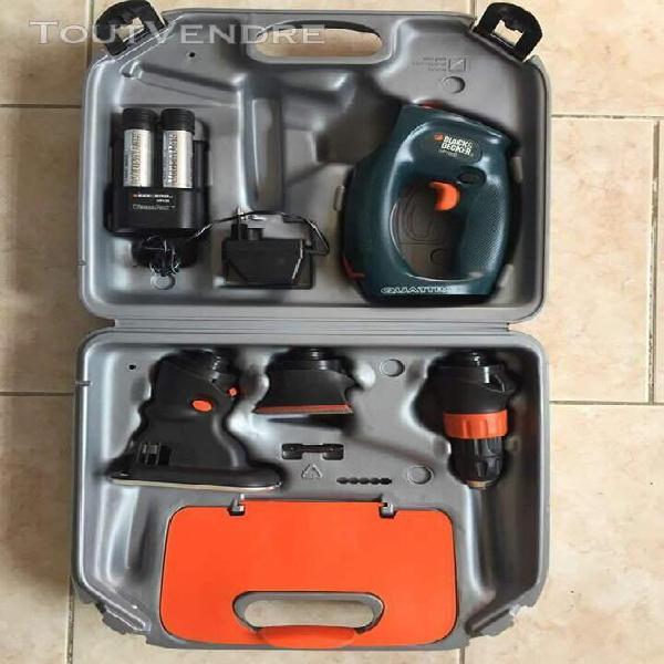 black decker 3,6v quatro multitool en valise comme neuf