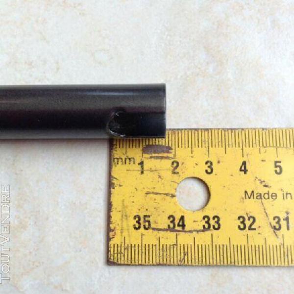 cache fiche paumelle d.14mm noire ral 7016 - lot de 4 paires