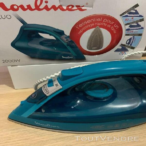 Fer à repasser - moulinex virtuo 2000 w - bleu - im1736e0