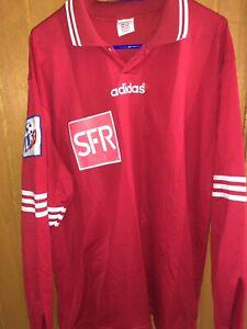 Maillot foot shirt porté match worn ancien vintage coupe