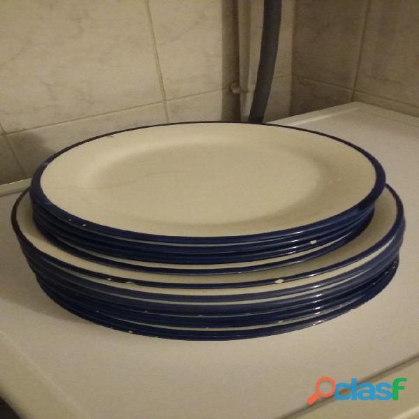 petites/grandes assiettes plates 13 pièces marque habitat