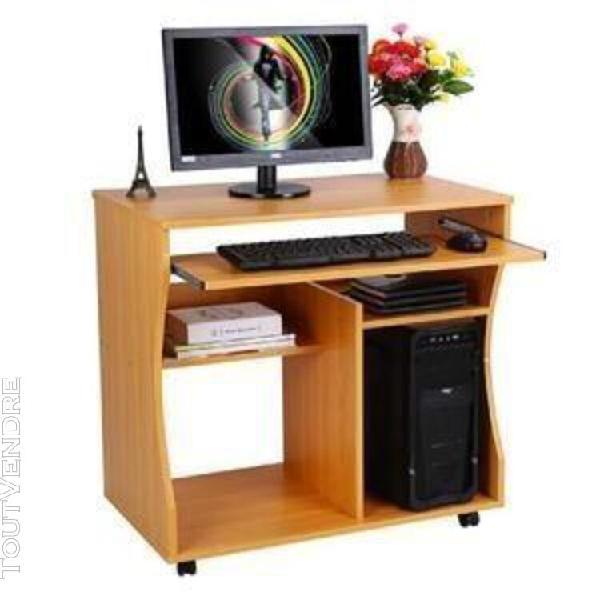 Table informatique meuble de bureau pour ordinateur avec pou