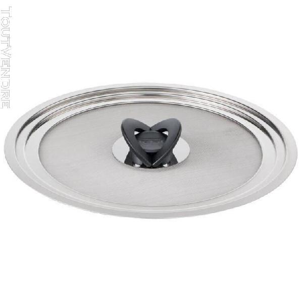 tefal couvercle anti-projection ingenio - inox - 24-30 cm