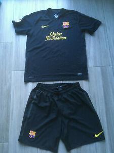 Tenue nike football maillot + short fc barcelone noir barça
