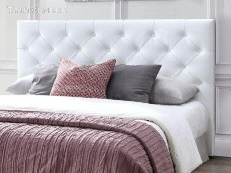 Tête de lit 140 cm enza - simili blanc